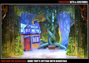 Dame Trot's Cottage (with Beanstalk)